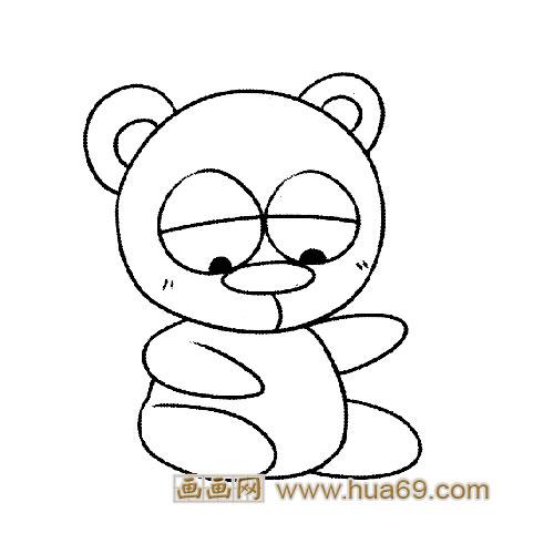 淘气的大熊猫宝宝简笔画5
