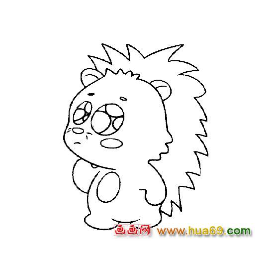 简笔画:可爱的小刺猬宝宝3