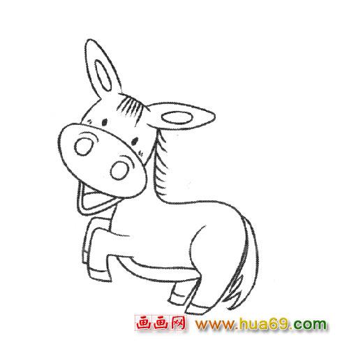 动物简笔画:顽皮的小牛