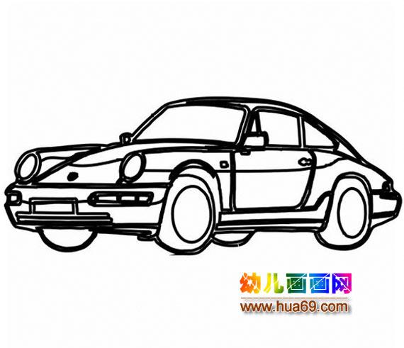 小汽车简笔画3
