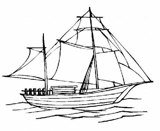大帆船6简笔画