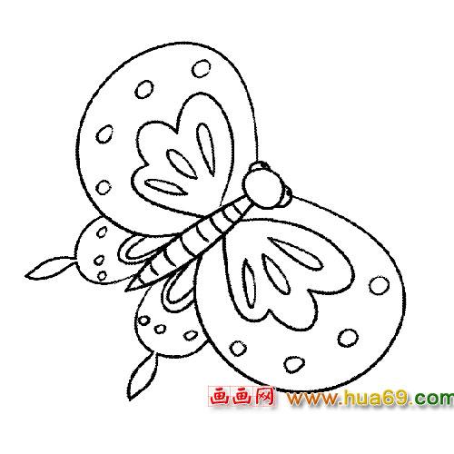 可爱的蝴蝶简笔画3,画画网