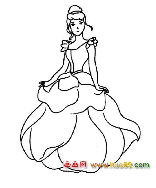十二星座代表的公主简笔画大全最漂亮的