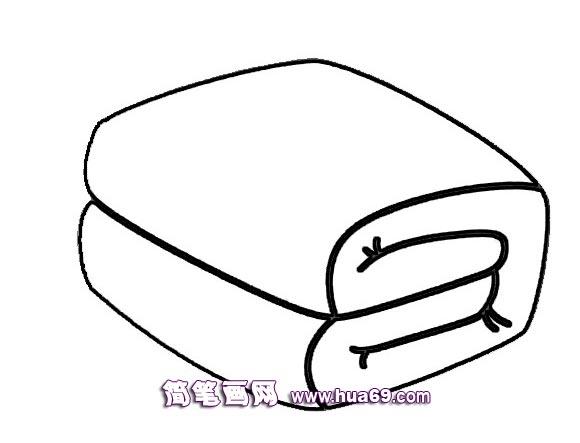 被子的简笔画画法
