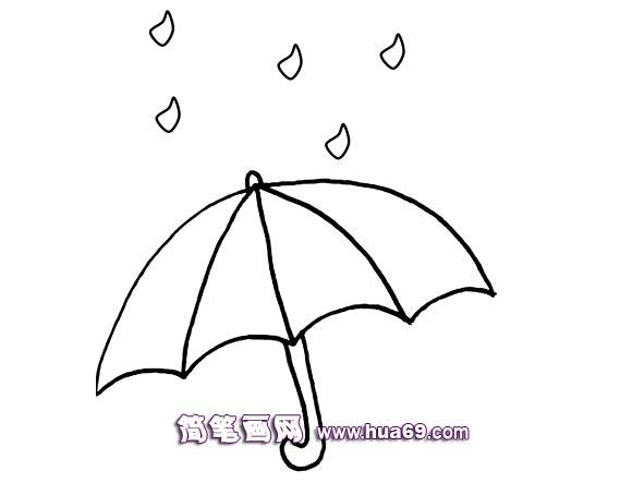 下雨的简笔画画法