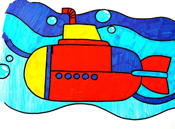 漂亮的房子,幼儿彩笔画作品 下一个图片: 晒太阳的螃蟹,幼儿彩笔画